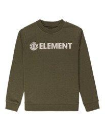 0 Blazin - Sweatshirt for Boys Green U2CRA2ELF0 Element