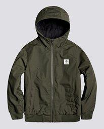 0 Wolfeboro Dulcey - Water-Resistant Jacket for Boys Green U2JKA1ELF0 Element