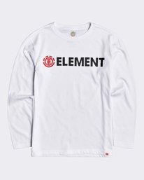 0 Blazin - Long Sleeve T-Shirt for Boys White U2LSA2ELF0 Element