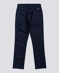1 Howland - Slim Fit Trousers for Boys Blue U2PTA1ELF0 Element