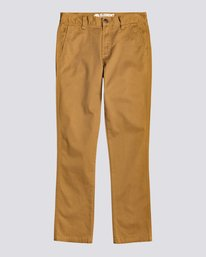 0 Howland - Pantalon Slim pour Garçon Marron U2PTA1ELF0 Element