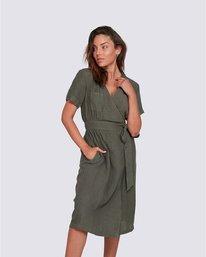 2 Kayla - Robe pour Femme Vert U3DRA2ELF0 Element