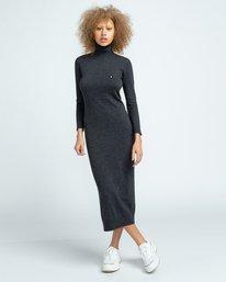 1 Jenni - Robe pour Femme Gris U3DRA5ELF0 Element