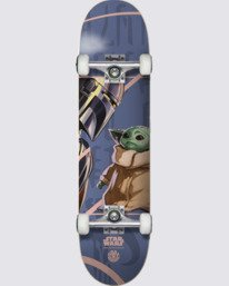 "2 Star Wars X Element 7.5"" Mandalorian Child - Skateboard Black U4CPD4ELF0 Element"