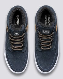 3 Wolfeboro Topaz C3 - Recycled & Organic Mid-Top Shoes for Men Blue U6TM3101 Element
