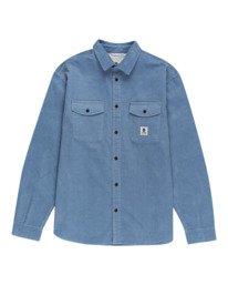 0 Builder Corduroy - Camisa de manga larga para Hombre Azul W1SHC6ELP1 Element
