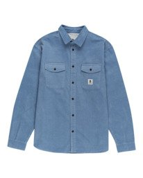 0 Builder Corduroy - Long Sleeve Shirt for Men Blue W1SHC6ELP1 Element