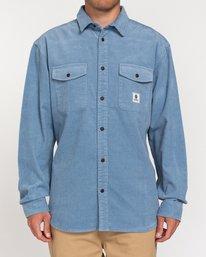 1 Builder Corduroy - Camisa de manga larga para Hombre Azul W1SHC6ELP1 Element