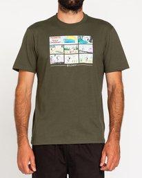 2 Peanuts Camper - Camiseta para Hombre Verde W1SSO4ELP1 Element