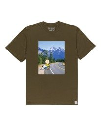 0 Peanuts Adventure - T-Shirt for Men Green W1SSO6ELP1 Element