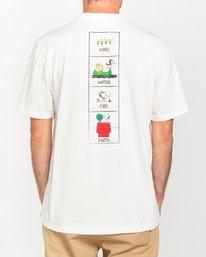1 Peanuts Page - Camiseta para Hombre Blanco W1SSO7ELP1 Element