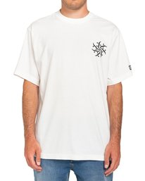 2 Fernando Elvira After Skate - Camiseta para Hombre Blanco W1SSP2ELP1 Element
