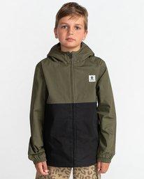 1 Wolfeboro Alder Light 2 Tones - Lightweight Water Resistant Jacket for Boys Black W2JKA6ELP1 Element