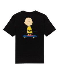1 Peanuts Kruzer - Camiseta para Chicos Negro W2SSF4ELP1 Element