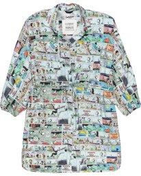 0 Peanuts Marshmallow - Robe chemise courte oversize pour Femme Blanc W3DRD2ELP1 Element