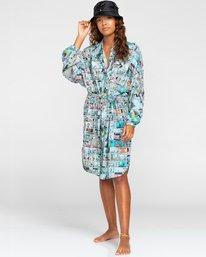 1 Peanuts Marshmallow - Robe chemise courte oversize pour Femme Blanc W3DRD2ELP1 Element