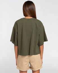 3 Peanuts Patches - T-Shirt mit Boxy Fit für Frauen Grün W3KTB5ELP1 Element