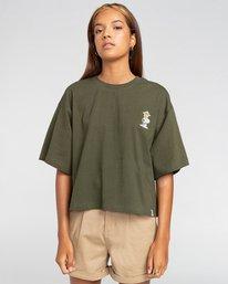 0 Peanuts Patches - T-Shirt mit Boxy Fit für Frauen Grün W3KTB5ELP1 Element