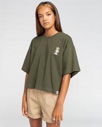 1 Peanuts Patches - T-Shirt mit Boxy Fit für Frauen Grün W3KTB5ELP1 Element