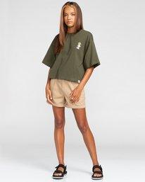 2 Peanuts Patches - T-Shirt mit Boxy Fit für Frauen Grün W3KTB5ELP1 Element