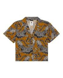 0 Java - Camisa de manga corta para Mujer Amarillo W3SHB2ELP1 Element