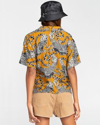 3 Java - Camisa de manga corta para Mujer Amarillo W3SHB2ELP1 Element