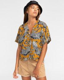 1 Java - Camisa de manga corta para Mujer Amarillo W3SHB2ELP1 Element