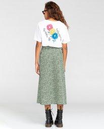 3 Janis - Jupe portefeuille pour Femme Blanc W3SKA1ELP1 Element