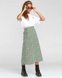 2 Janis - Jupe portefeuille pour Femme Blanc W3SKA1ELP1 Element