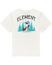 1 Peanuts Good Times - Camiseta para Mujer Blanco W3SSB1ELP1 Element