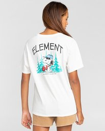 3 Peanuts Good Times - Camiseta para Mujer Blanco W3SSB1ELP1 Element