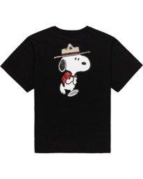 1 Peanuts Trekking - T-Shirt für Frauen Schwarz W3SSB4ELP1 Element