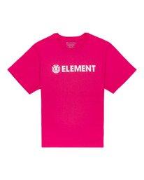 0 Element Logo - T-shirt pour Femme Rouge W3SSB7ELP1 Element