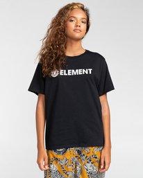 0 Element Logo - T-shirt pour Femme Noir W3SSB7ELP1 Element