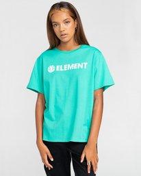 1 Element Logo - T-shirt pour Femme Bleu W3SSB7ELP1 Element