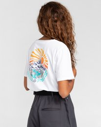 4 Positivity Crop - Camiseta para Mujer Blanco W3SSC4ELP1 Element