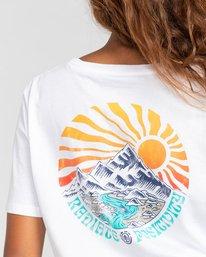 5 Positivity Crop - Camiseta para Mujer Blanco W3SSC4ELP1 Element