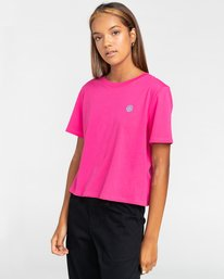 2 Positivity Crop - Camiseta para Mujer Rojo W3SSC4ELP1 Element