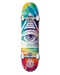 "0 8"" Eye Trippin Rainbow - Skateboard pour Unisexe Noir W4CPB2ELP1 Element"