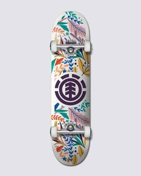 """0 FLORAL PARTY 7.75"""" COMPLETE SKATEBOARD Multicolor W4CPB8 Element"""