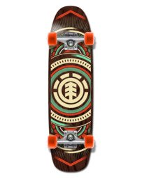"""0 HATCHED CRUISER 8.75"""" COMPLETE SKATEBOARD Multicolor W4CPB9 Element"""