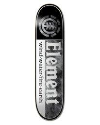 "0 8"" Smoked Dyed Section - Planche de skateboard pour Unisexe Noir W4DCD4ELP1 Element"