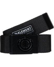 0 Beyond Belt - Webbing Belt for Men Black W5BLB2ELPP Element