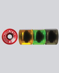 0 Boardwalk Rasta 70mm Wheels  WHLG870R Element
