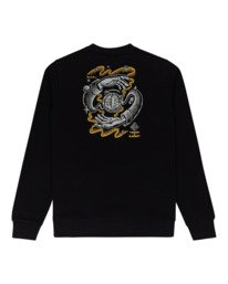 1 Rotation - Sweatshirt for Men Black Z1CRC5ELF1 Element