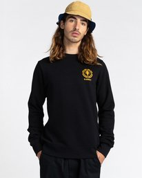 2 Rotation - Sweatshirt for Men Black Z1CRC5ELF1 Element