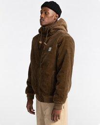 2 Dulcey Corduroy - Water-Resistant Jacket for Men Brown Z1JKE1ELF1 Element