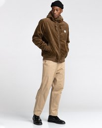 4 Dulcey Corduroy - Water-Resistant Jacket for Men Brown Z1JKE1ELF1 Element