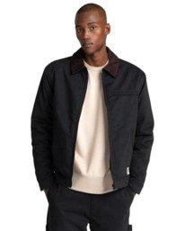 1 Craftman - Water-Resistant Jacket for Men Black Z1JKE3ELF1 Element