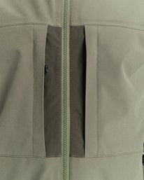 6 RCA - Polartec® Waterproof Jacket for Unisex Green Z1JKG8ELF1 Element